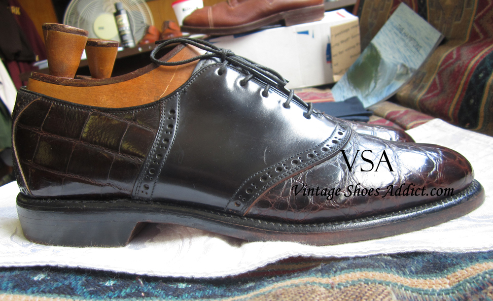 Mens Cordovan Saddle Shoes