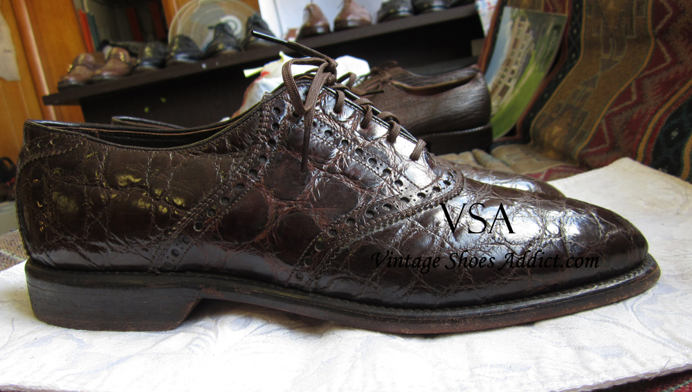 crocodile shoes alligator mens shoes from a vintage